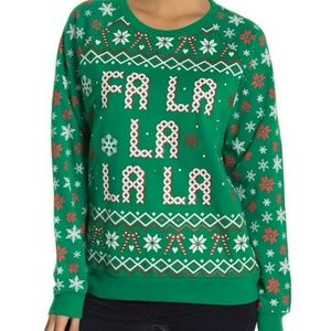 Fa La La Light Up Green Ugly Christmas Sweater